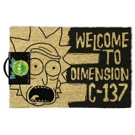 Rick & Morty - Paillasson Dimension C-137 Black 40 x 57 cm