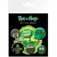 Rick et Morty - Pack 6 badges Pickle Rick