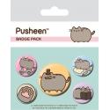 Pusheen - Pack 5 badges Fancy