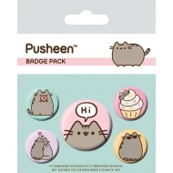 Pusheen - Pack 5 badges Says Hi