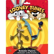 Looney Tunes - Pack 2 figurines flexibles Bip Bip et Coyote 15 cm
