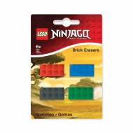 LEGO Ninjago - Pack 4 gommes