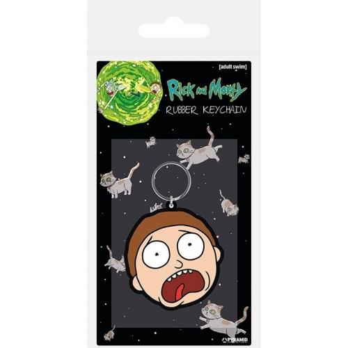 Rick & Morty - Porte-clés Morty Terrified Face 6 cm