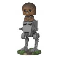 Star Wars - Figurine POP! Deluxe Chewbacca avec AT-ST 10 cm