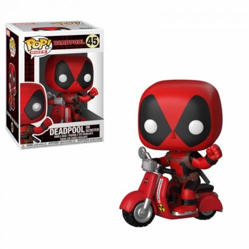 Deadpool - Figurine POP! Deadpool & Scooter 9 cm