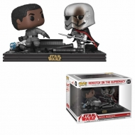 Star Wars - Pack 2 Figurines POP! Bobble Head Finn vs Captain Phasma 9 cm