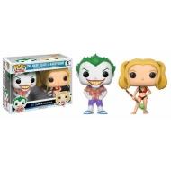 DC Comics - Pack de 2 POP! Beach Joker & Harley 9 cm