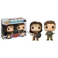 Wonder Woman - Pack 2 Figurines POP! Wonder Woman & Steve Trevor 9 cm