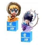 Naruto Shippuden - Pack 2 trading figures Petit Chara Land Fujin & Raijin 5 cm