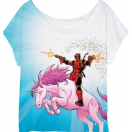 Deadpool - T-Shirt femme Deadpool Unicorn