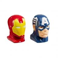 Marvel Comics - Salière et poivrière Iron Man & Captain America