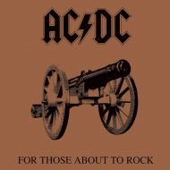 AC/DC - Tableau toile encadré For Those About To Rock 40 x 40 cm