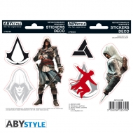 Assassin's Creed - 2 planches Stickers Edward Altaïr 16x11cm