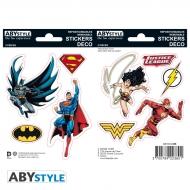 Dc Comics - 2 planches Stickers Justice League 16x11cm