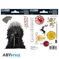 Game Of Thrones - 2 planches Stickers Stark Sigils 16x11cm