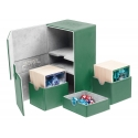 Ultimate Guard - Boîte pour cartes Twin Flip'n'Tray Deck Case 160+ taille standard XenoSkin Vert