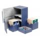 Ultimate Guard - Boîte pour cartes Twin Flip'n'Tray Deck Case 160+ taille standard XenoSkin Bleu