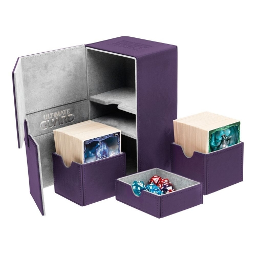 Ultimate Guard - Boîte pour cartes Twin Flip'n'Tray Deck Case 160+ taille standard XenoSkin Violet