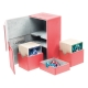 Ultimate Guard - Boîte pour cartes Twin Flip'n'Tray Deck Case 160+ taille standard XenoSkin Rouge