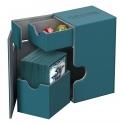 Ultimate Guard - Flip'n'Tray Deck Case 80+ taille standard XenoSkin Bleu Petrole