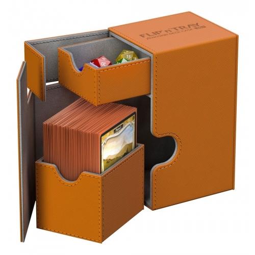 Ultimate Guard - Flip'n'Tray Deck Case 80+ taille standard XenoSkin Orange