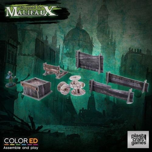 Malifaux ColorED - Maquette pour jeu de figurines 32 mm Railway Prop Set