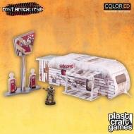 Post Apocalypse ColorED - Maquette pour jeu de figurines 28 mm The Caravan