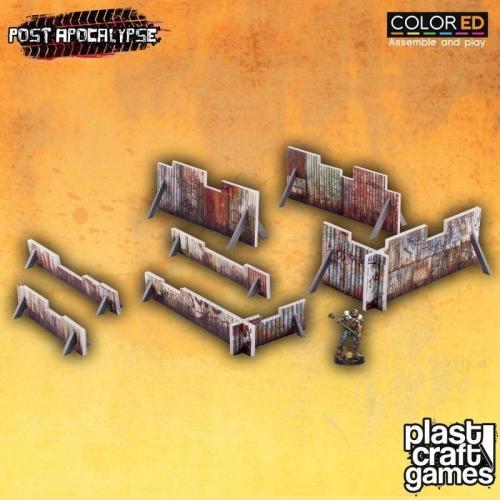 Post Apocalypse ColorED - Maquette pour jeu de figurines 28 mm Rusty Barricades