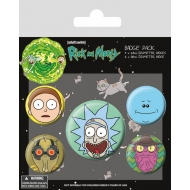 Rick et Morty - Pack 5 badges Heads