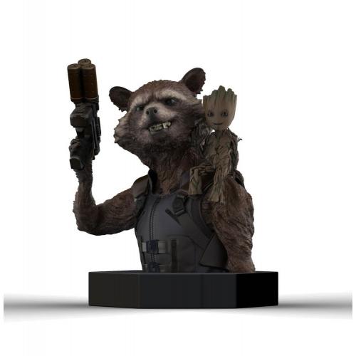 Les Gardiens de la Galaxie Vol. 2 - Buste 1/6 Rocket Raccoon & Groot 16 cm