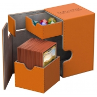 Ultimate Guard - Boite pour cartes Flip'n'Tray Deck Case 100+ taille standard XenoSkin Orange