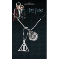 Harry Potter - Pendentif Dog Tag Crest & Hallows