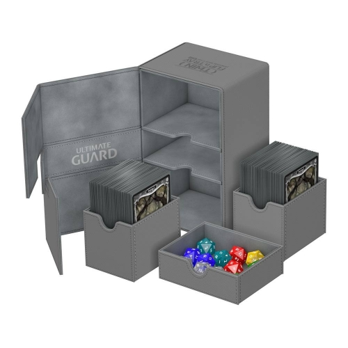 Ultimate Guard - Boite pour cartes Twin Flip'n'Tray Deck Case 160+ taille standard XenoSkin Gris