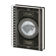 Game of Thrones - Cahier à spirale A5 Wiro Stark