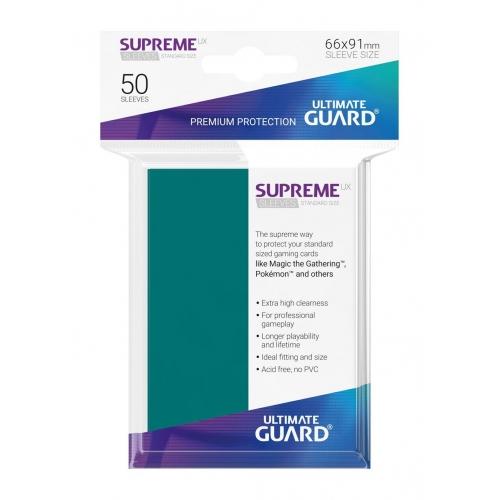 Ultimate Guard - 50 pochettes Supreme UX Sleeves taille standard Bleu Petrole