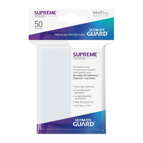Ultimate Guard - 50 pochettes Supreme UX Sleeves taille standard Frosted