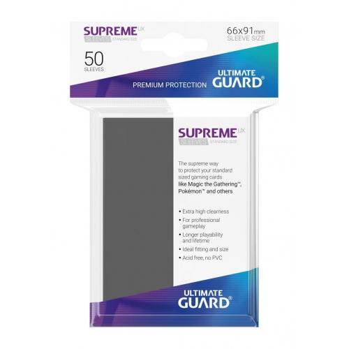 Ultimate Guard - 50 pochettes Supreme UX Sleeves taille standard Gris Fonce