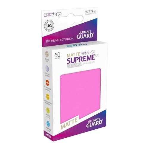 Ultimate Guard - 60 pochettes Supreme UX Sleeves format japonais Rose Mat