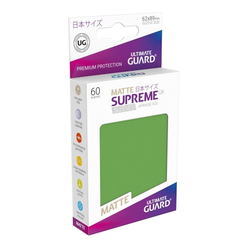 Ultimate Guard - 60 pochettes Supreme UX Sleeves format japonais Vert Mat