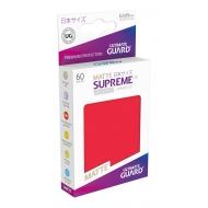 Ultimate Guard - 60 pochettes Supreme UX Sleeves format japonais Rouge Mat
