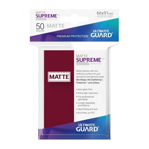Ultimate Guard - 50 pochettes Supreme UX Sleeves taille standard Bourgogne Mat