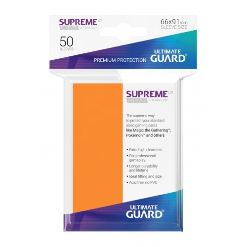 Ultimate Guard - 50 pochettes Supreme UX Sleeves taille standard Orange