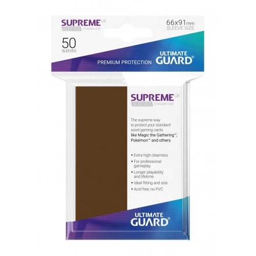 Ultimate Guard - 50 pochettes Supreme UX Sleeves taille standard Marron
