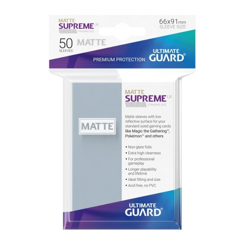 Ultimate Guard - 50 pochettes Supreme UX Sleeves taille standard Transparent Mat