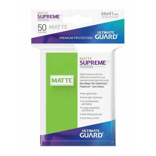 Ultimate Guard - 50 pochettes Supreme UX Sleeves taille standard Vert Clair Mat