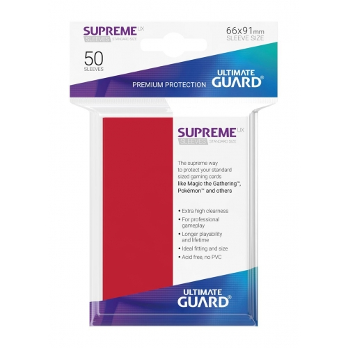 Ultimate Guard - 50 pochettes Supreme UX Sleeves taille standard Rouge