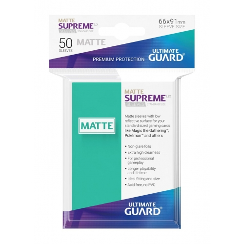 Ultimate Guard - 50 pochettes Supreme UX Sleeves taille standard Turquoise Mat