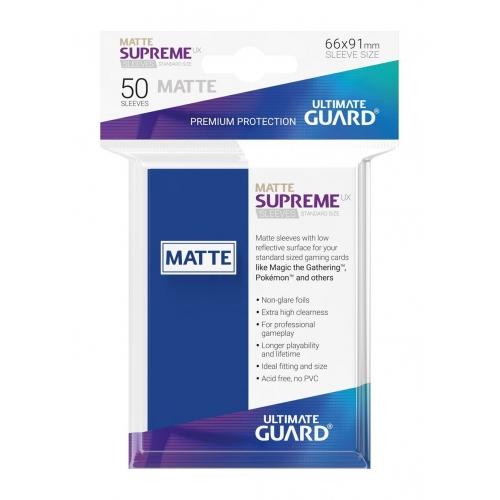 Ultimate Guard - 50 pochettes Supreme UX Sleeves taille standard Bleu Mat