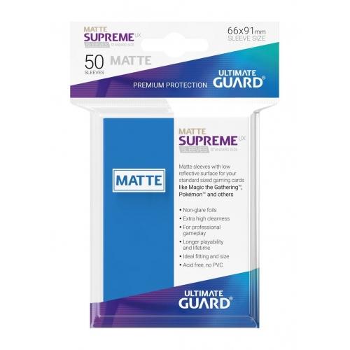 Ultimate Guard - 50 pochettes Supreme UX Sleeves taille standard Bleu Roi Mat