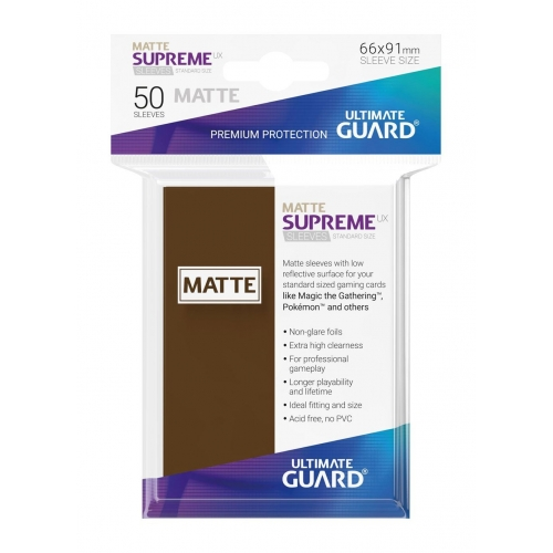 Ultimate Guard - 50 pochettes Supreme UX Sleeves taille standard Marron Mat